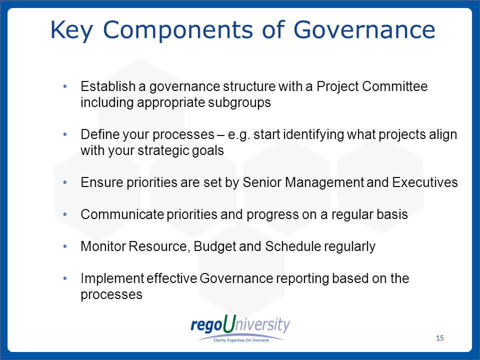 Key Components of Governance