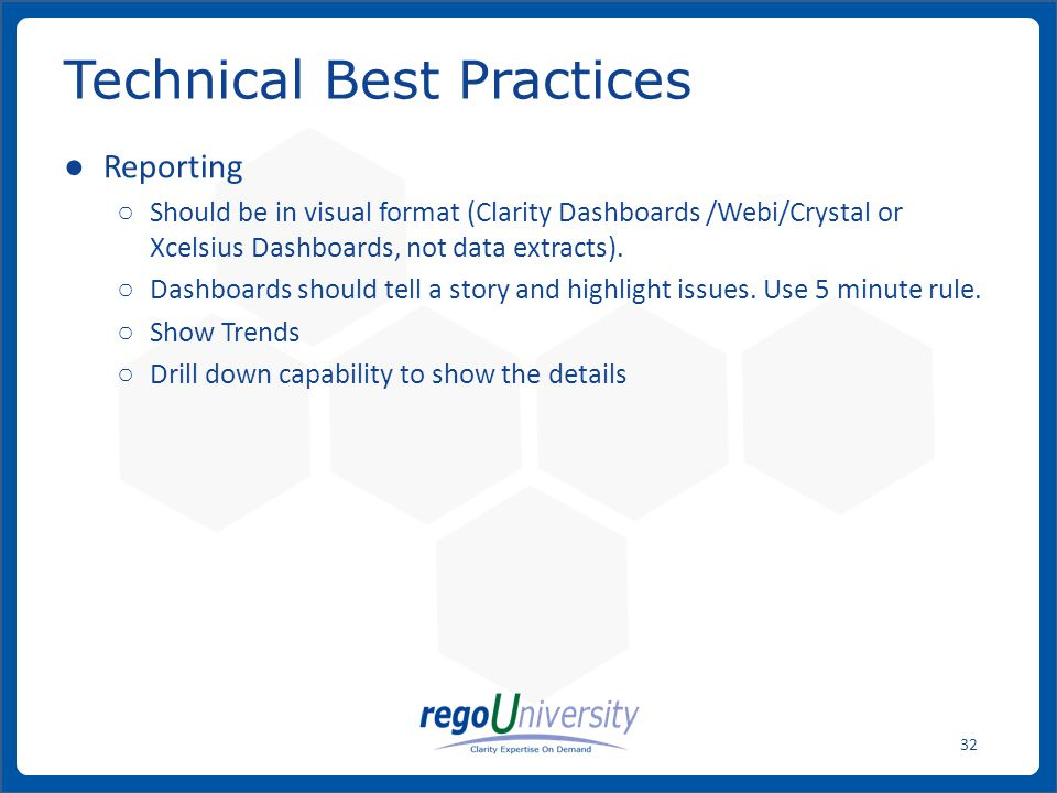 Technical Best Practices