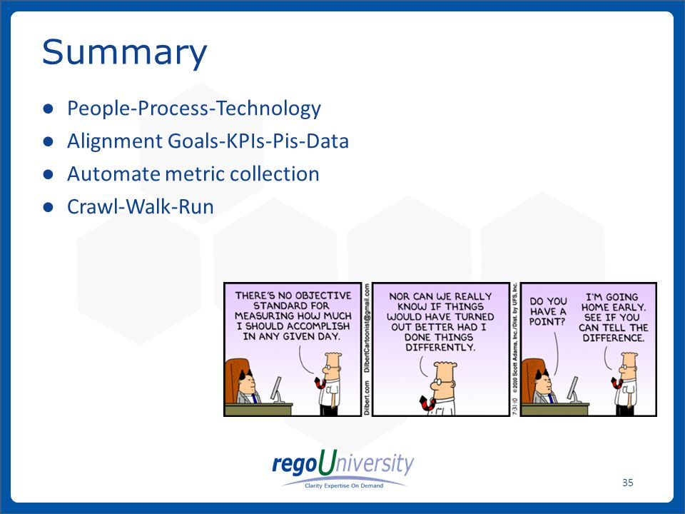 Summary People-Process-Technology Alignment Goals-KPIs-Pis-Data