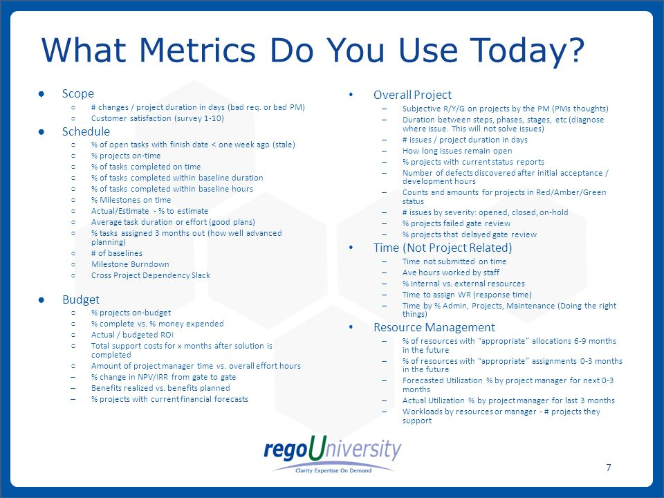 What Metrics Do You Use Today