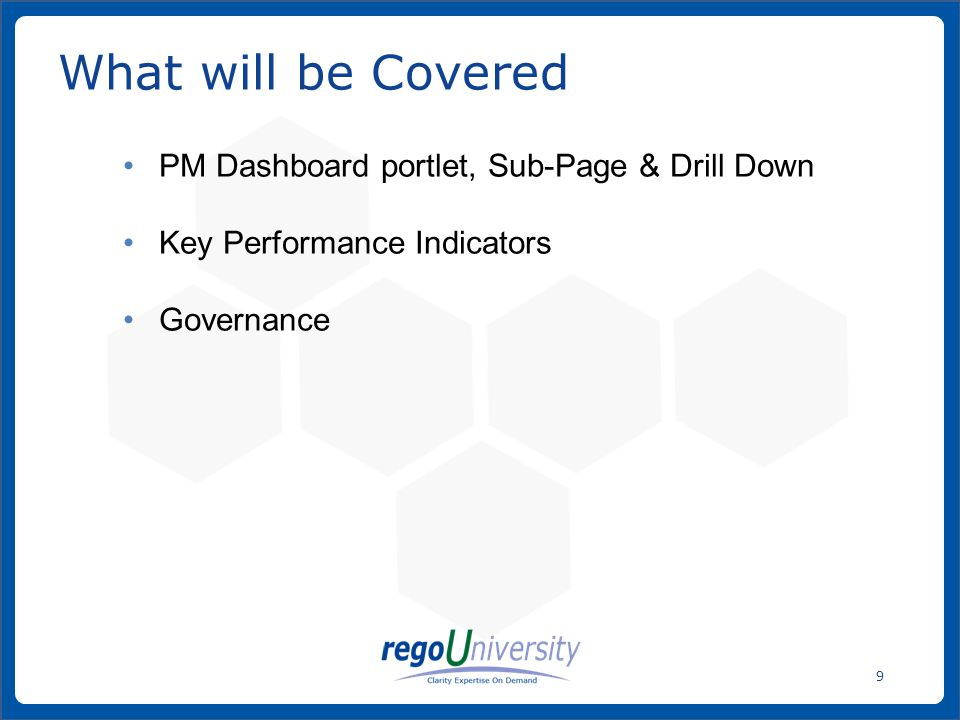 What will be Covered PM Dashboard portlet, Sub-Page & Drill Down