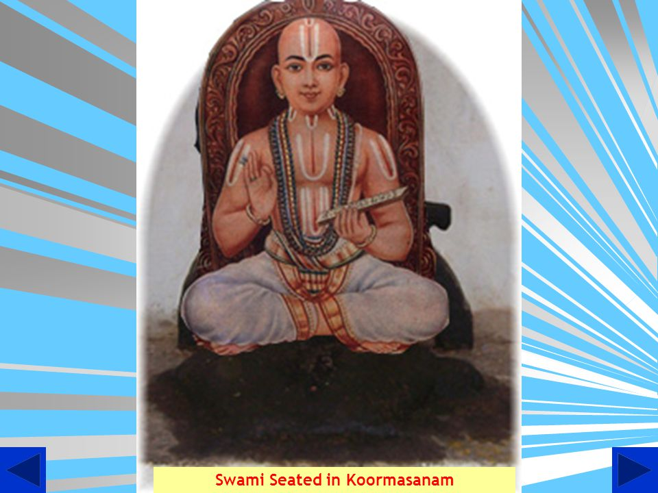 Swami Seated in Koormasanam
