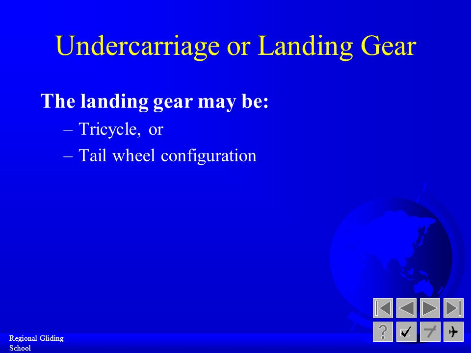 Undercarriage or Landing Gear