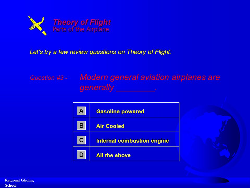 Theory of Flight Parts of the Airplane