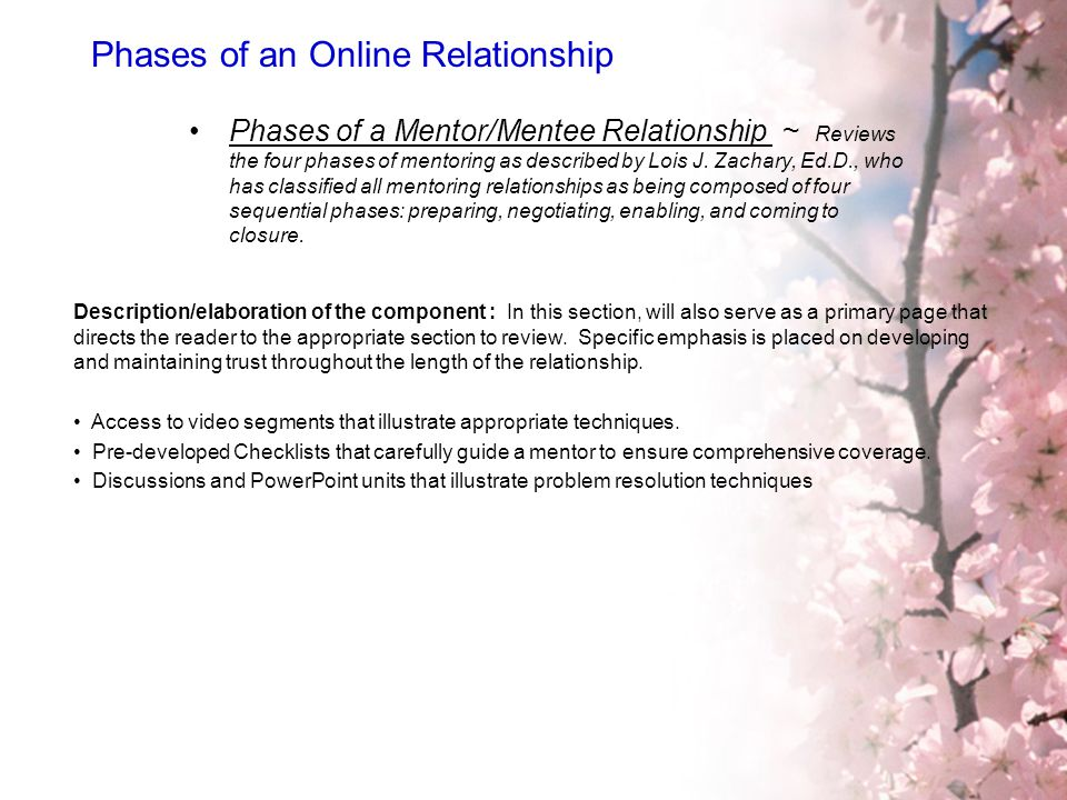 Phases of an Online Relationship
