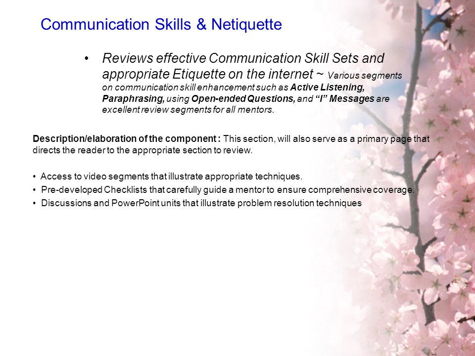Communication Skills & Netiquette