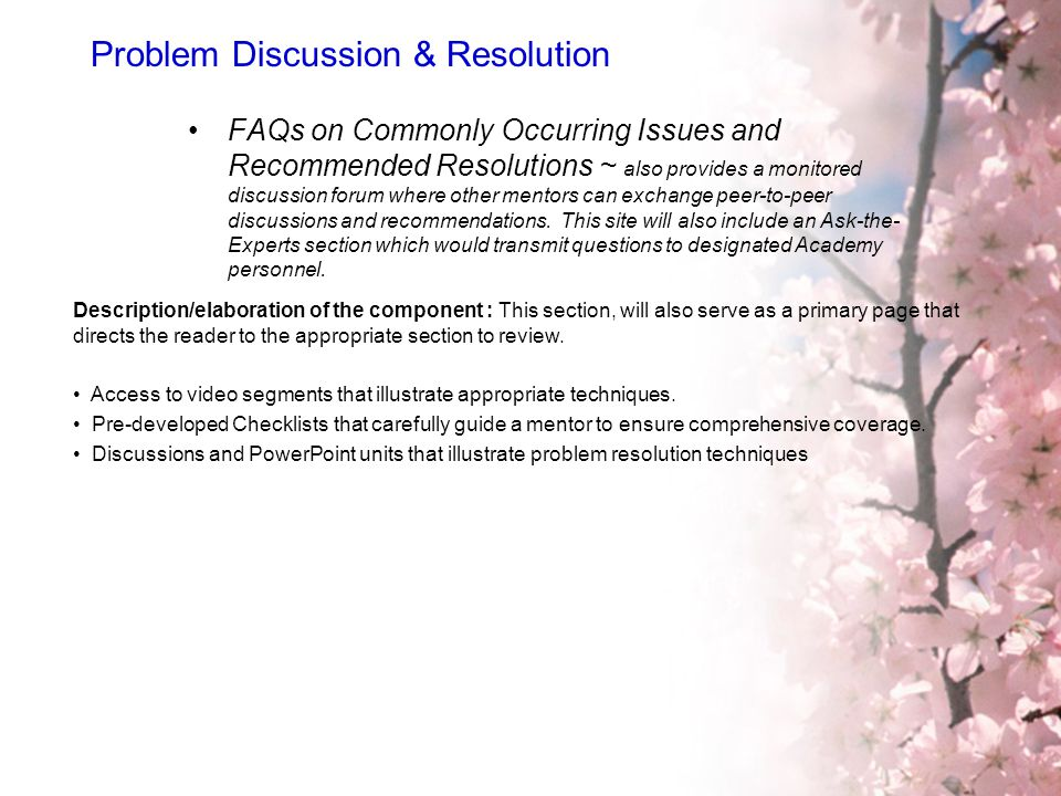 Problem Discussion & Resolution