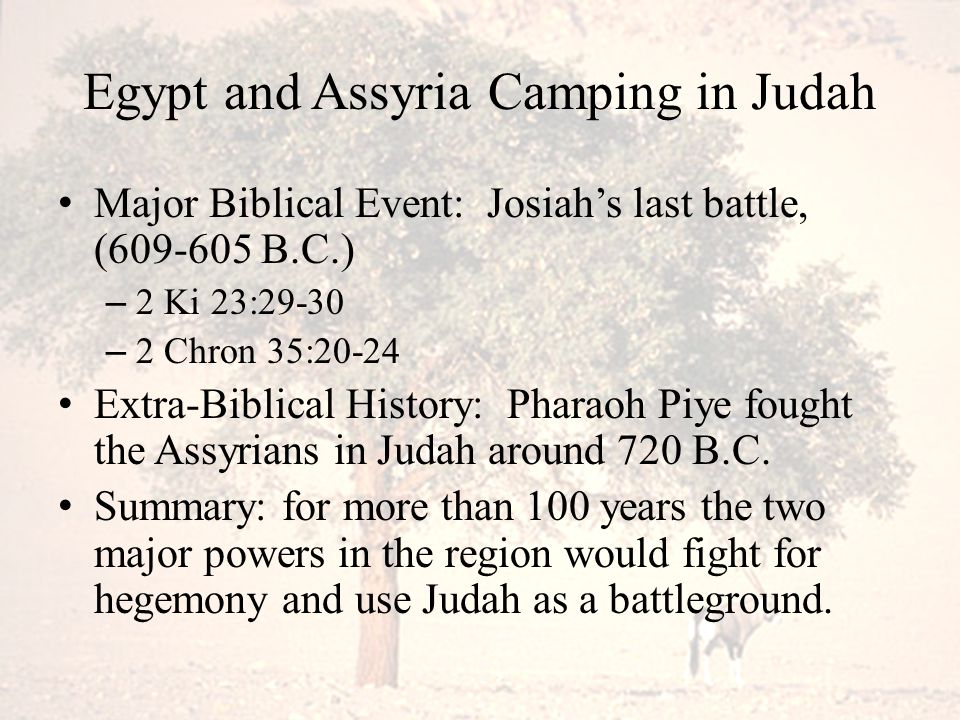Egypt and Assyria Camping in Judah