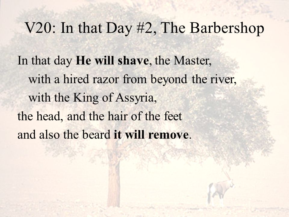 V20: In that Day #2, The Barbershop