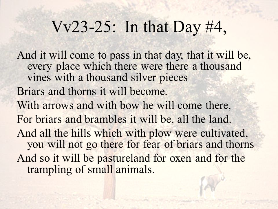 Vv23-25: In that Day #4,