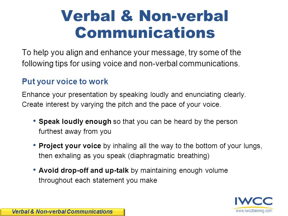 Verbal & Non-verbal Communications