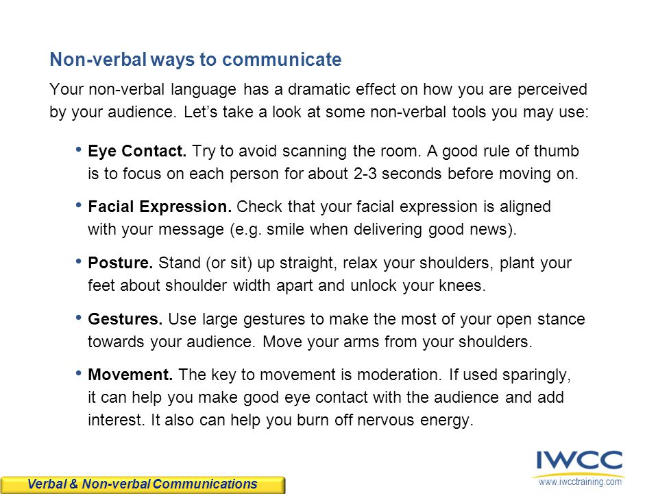 Non-verbal ways to communicate