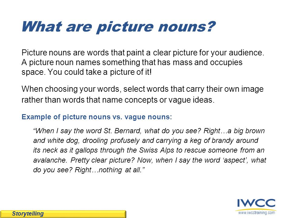 What are picture nouns