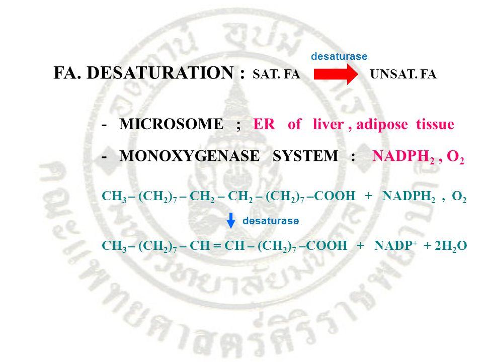 FA. DESATURATION : SAT. FA UNSAT. FA