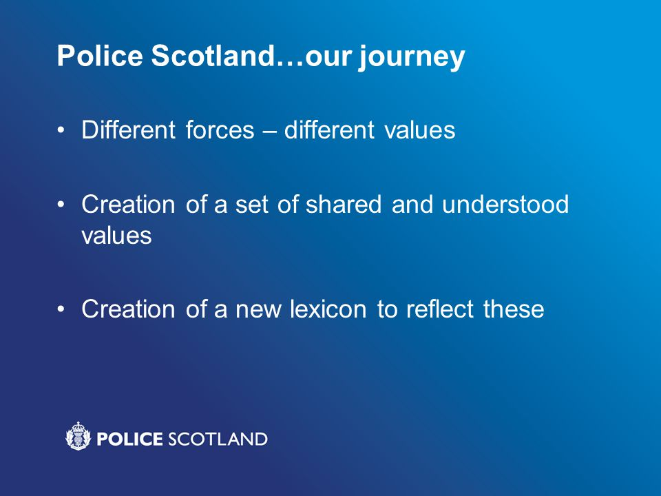 Police Scotland…our journey