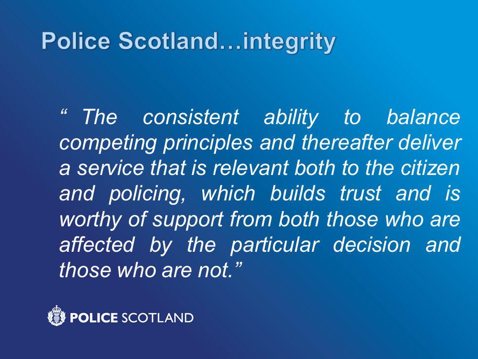 Police Scotland…integrity