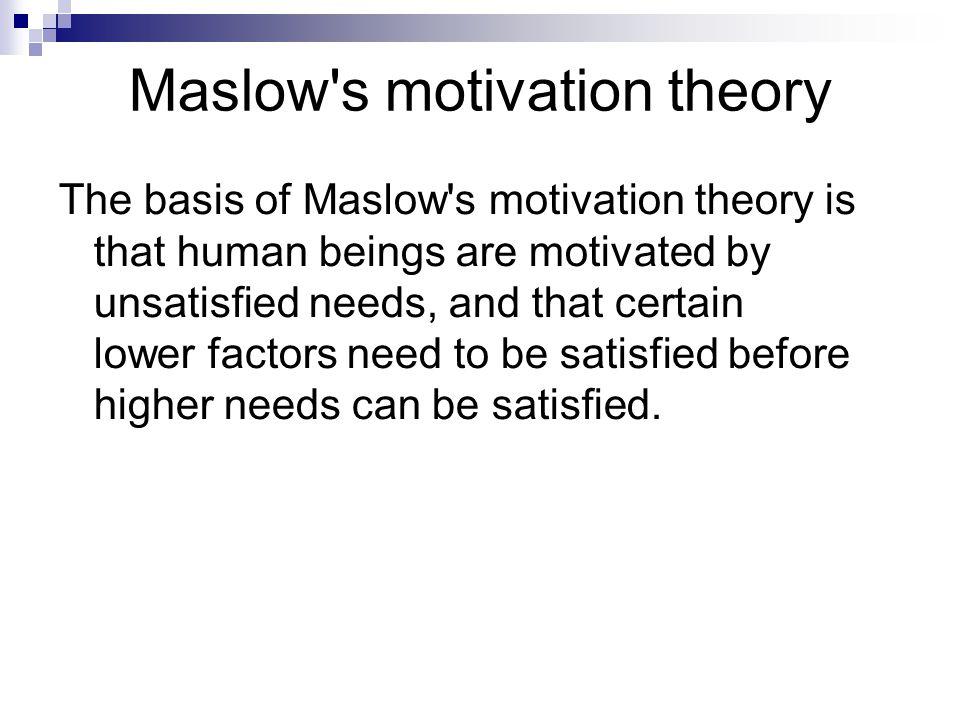 Maslow s motivation theory