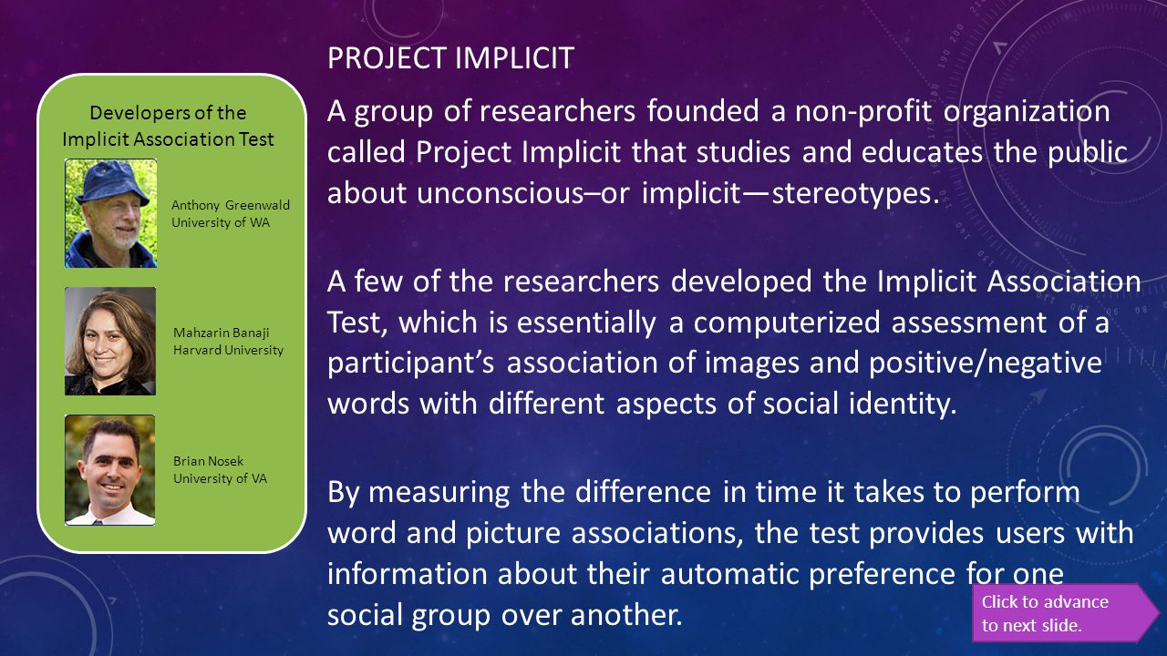 Developers of the Implicit Association Test
