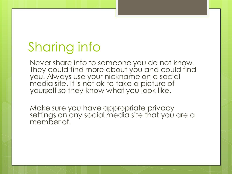 Sharing info