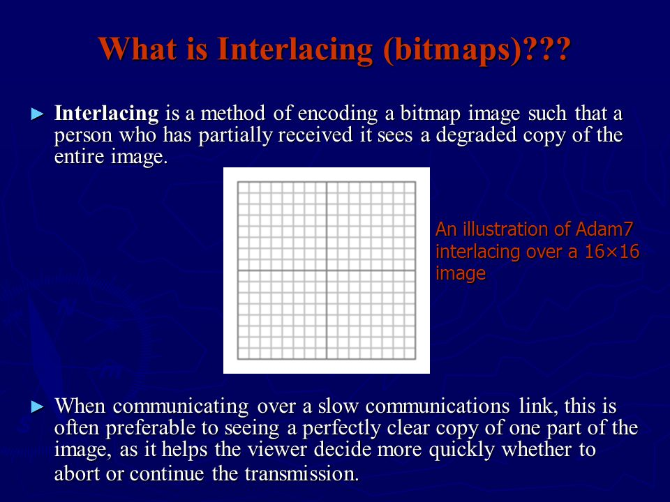 What is Interlacing (bitmaps)