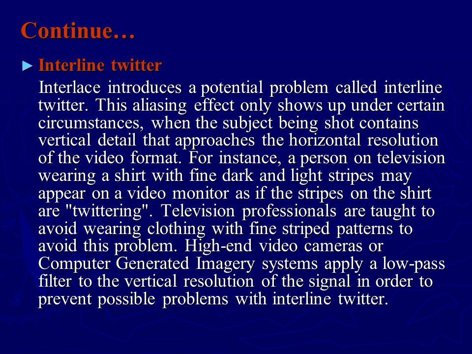 Continue… Interline twitter