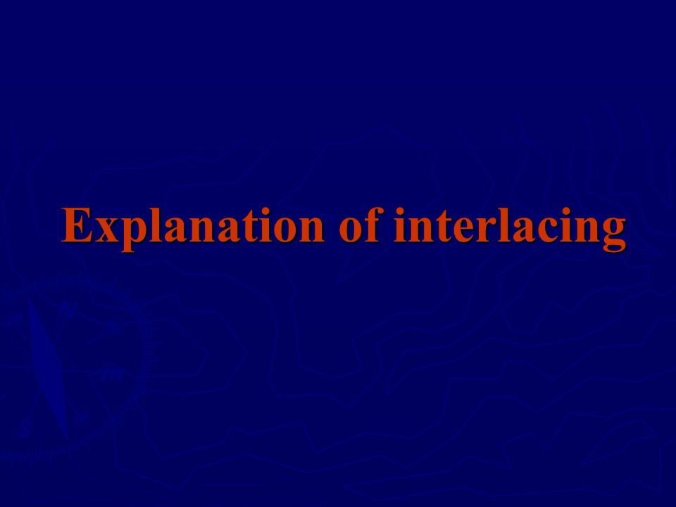 Explanation of interlacing