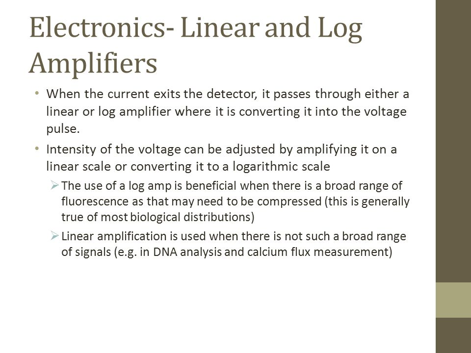 Electronics- Linear and Log Amplifiers