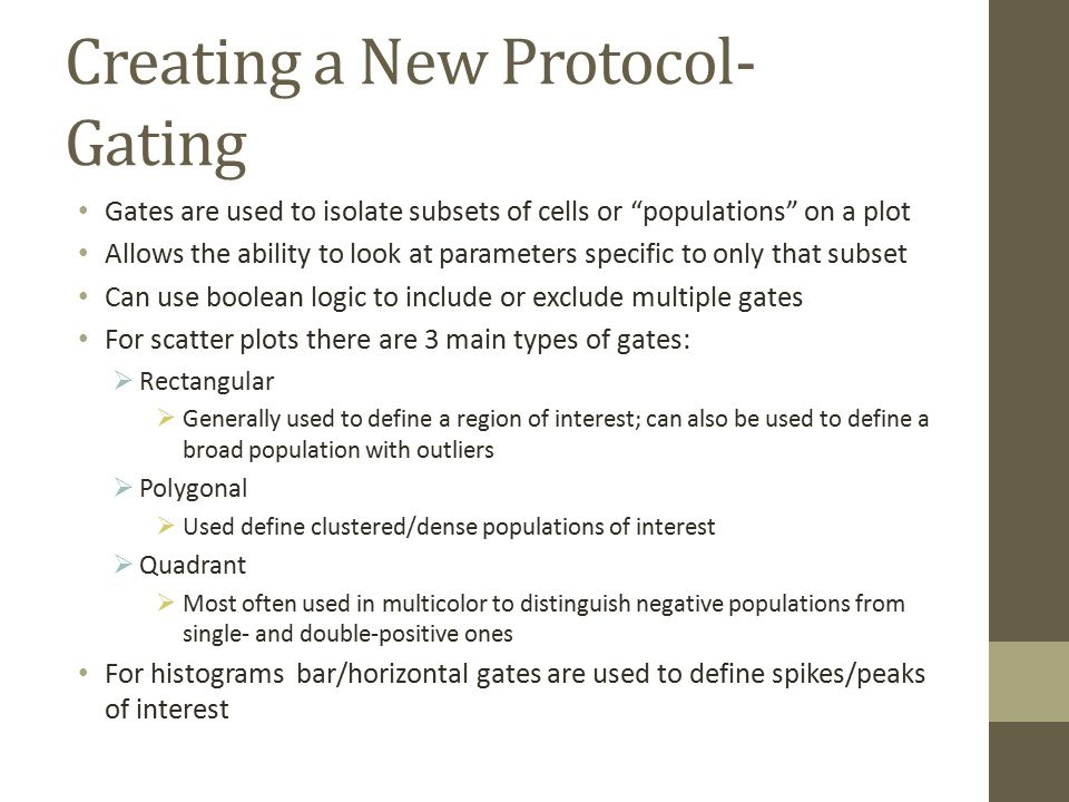 Creating a New Protocol- Gating
