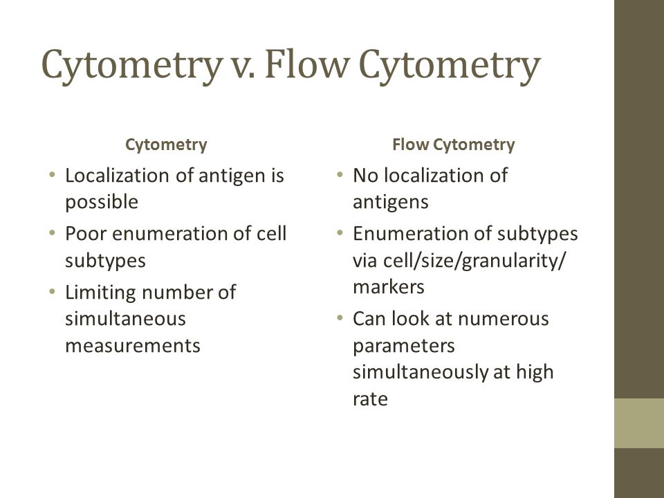 Cytometry v. Flow Cytometry