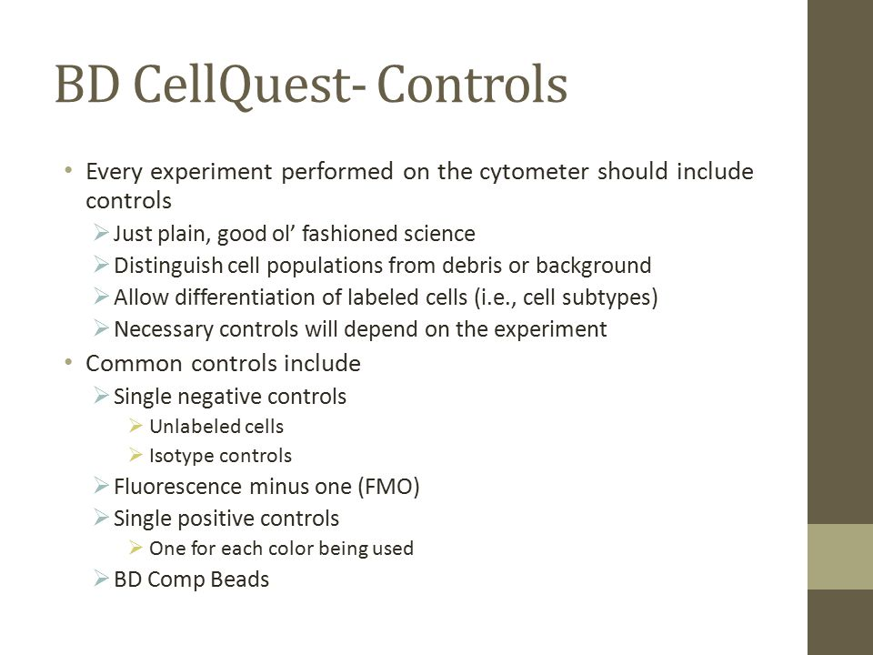 BD CellQuest- Controls