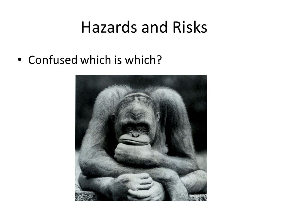 Hazards and Risks Confused which is which
