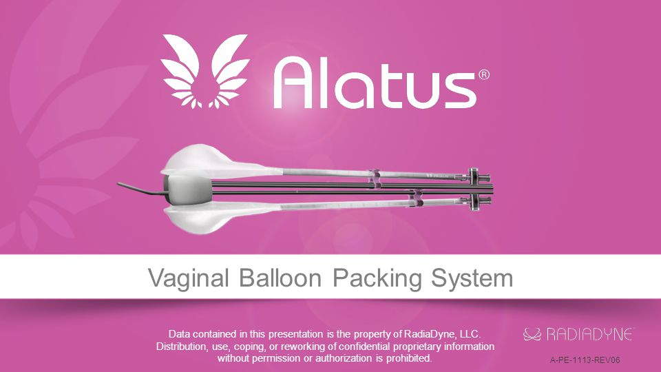 Vaginal Balloon Packing System