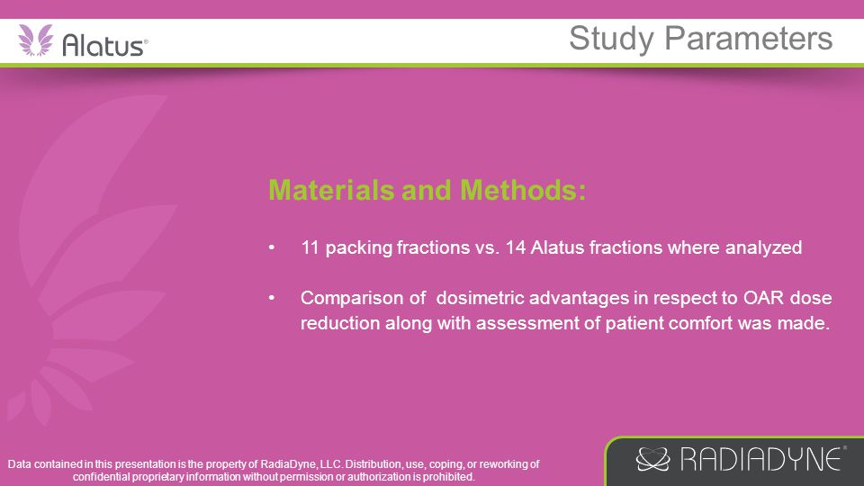 Study Parameters Materials and Methods: