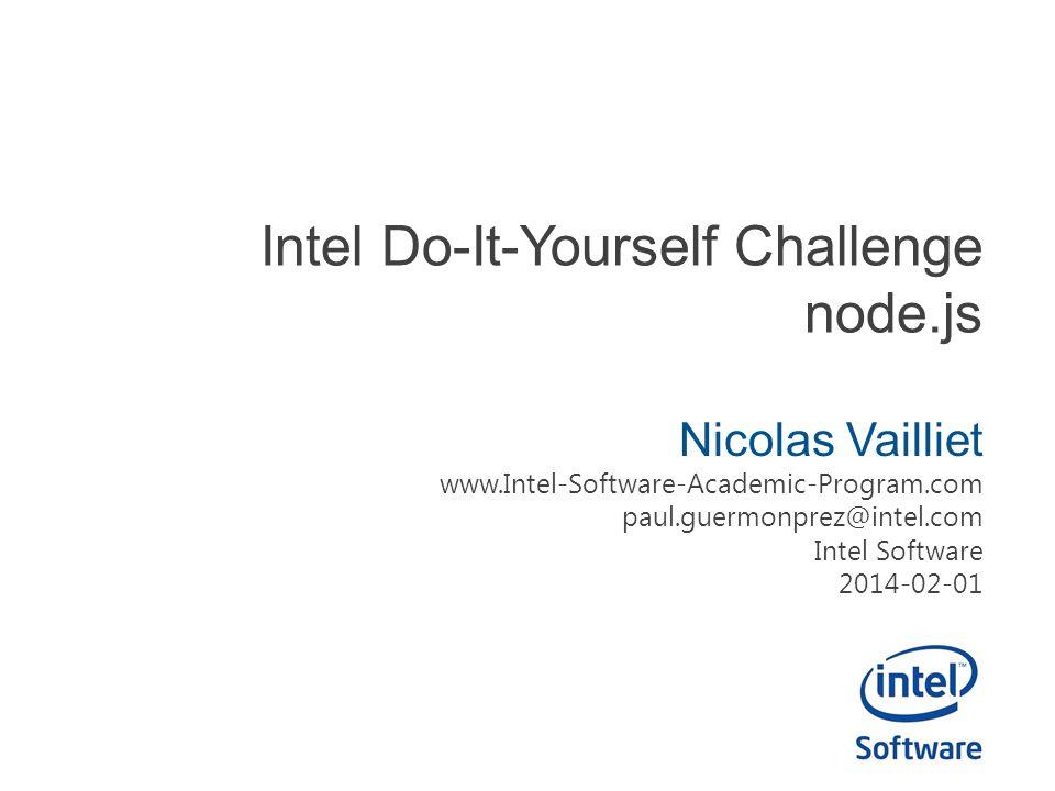 Intel Do-It-Yourself Challenge node.js