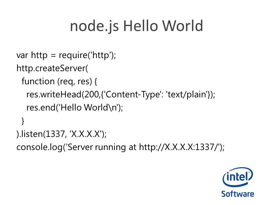node.js Hello World