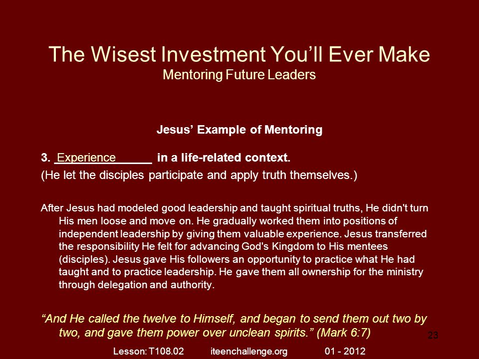 The Wisest Investment You'll Ever Make Mentoring Future Leaders
