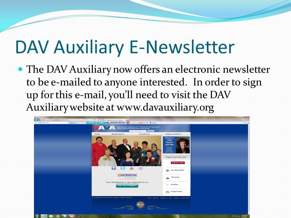 DAV Auxiliary E-Newsletter