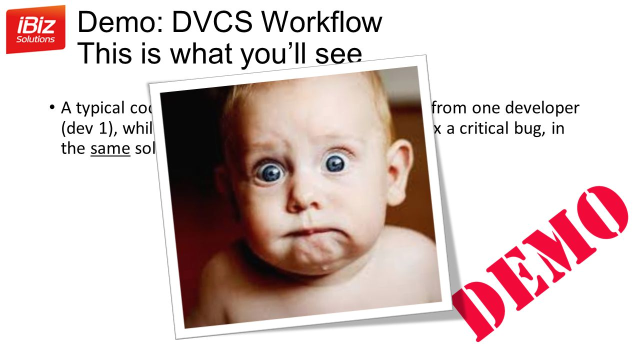 Demo: DVCS Workflow This is what you'll see