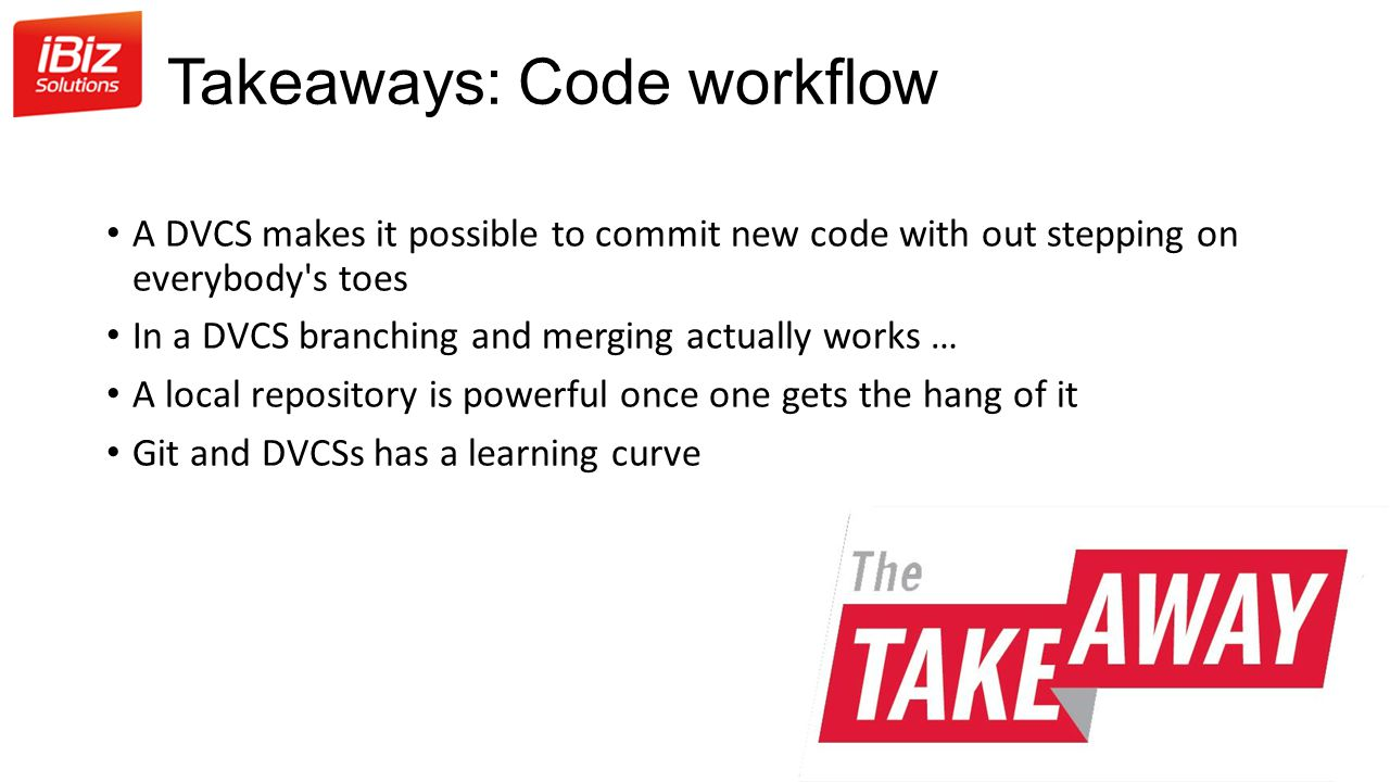 Takeaways: Code workflow