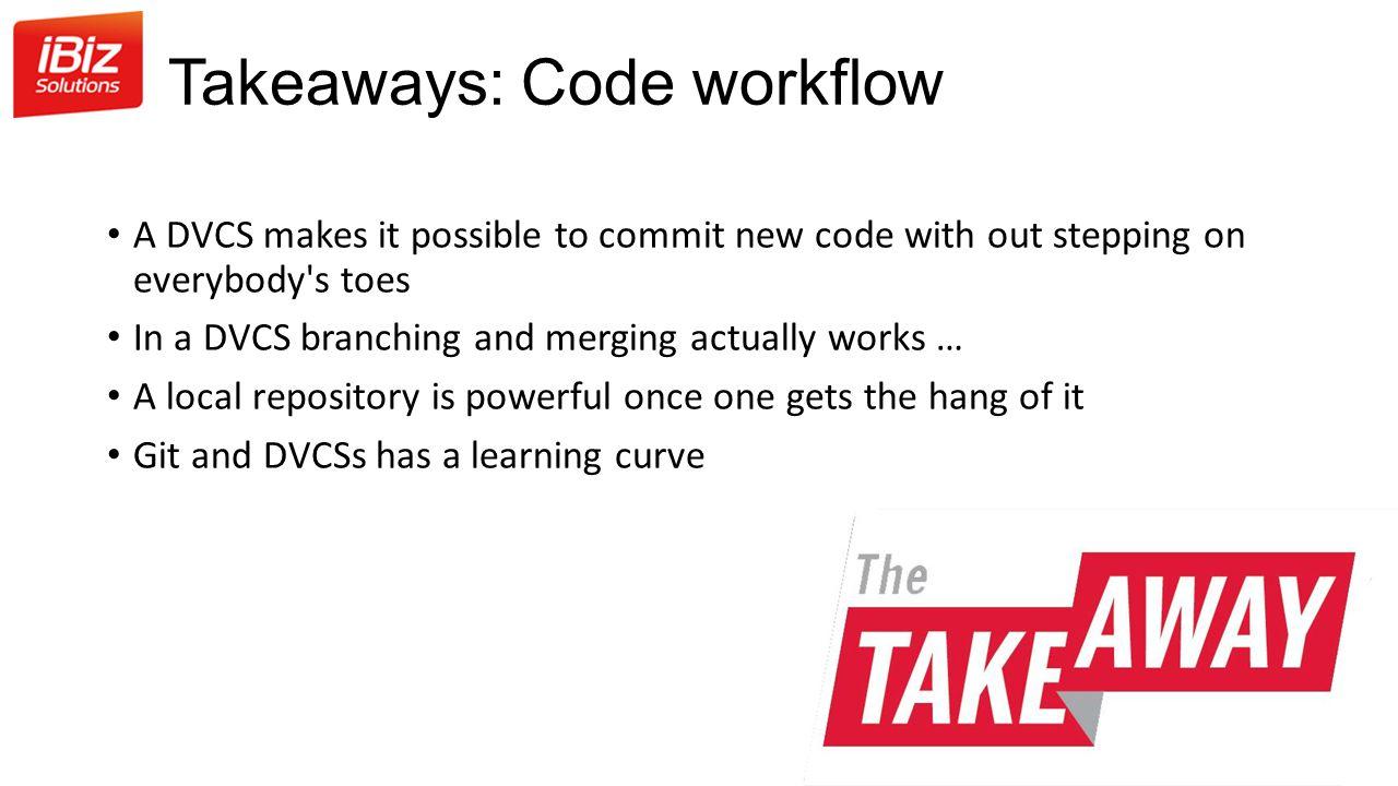 Takeaways: Code workflow