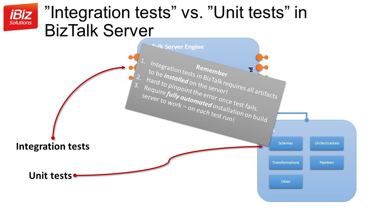 Integration tests vs. Unit tests in BizTalk Server