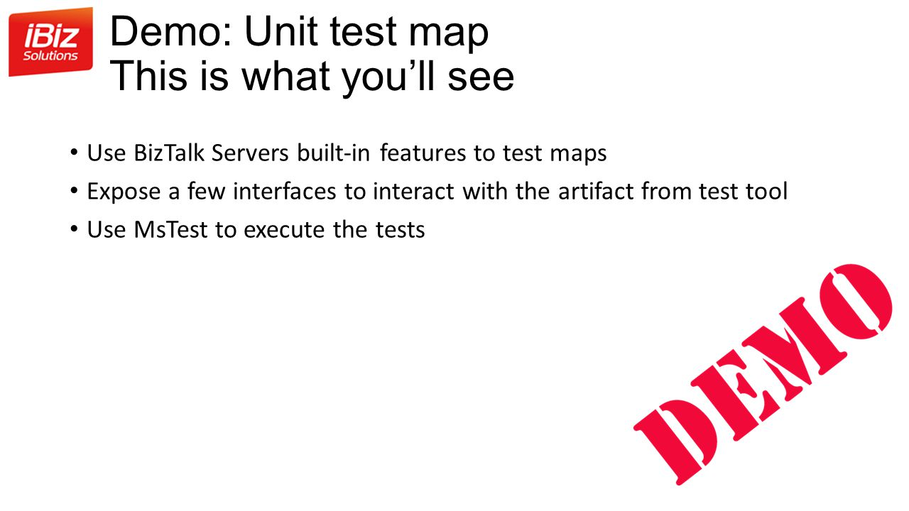 Demo: Unit test map This is what you'll see