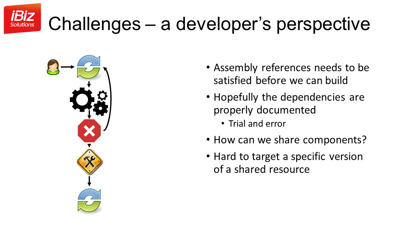 Challenges – a developer's perspective