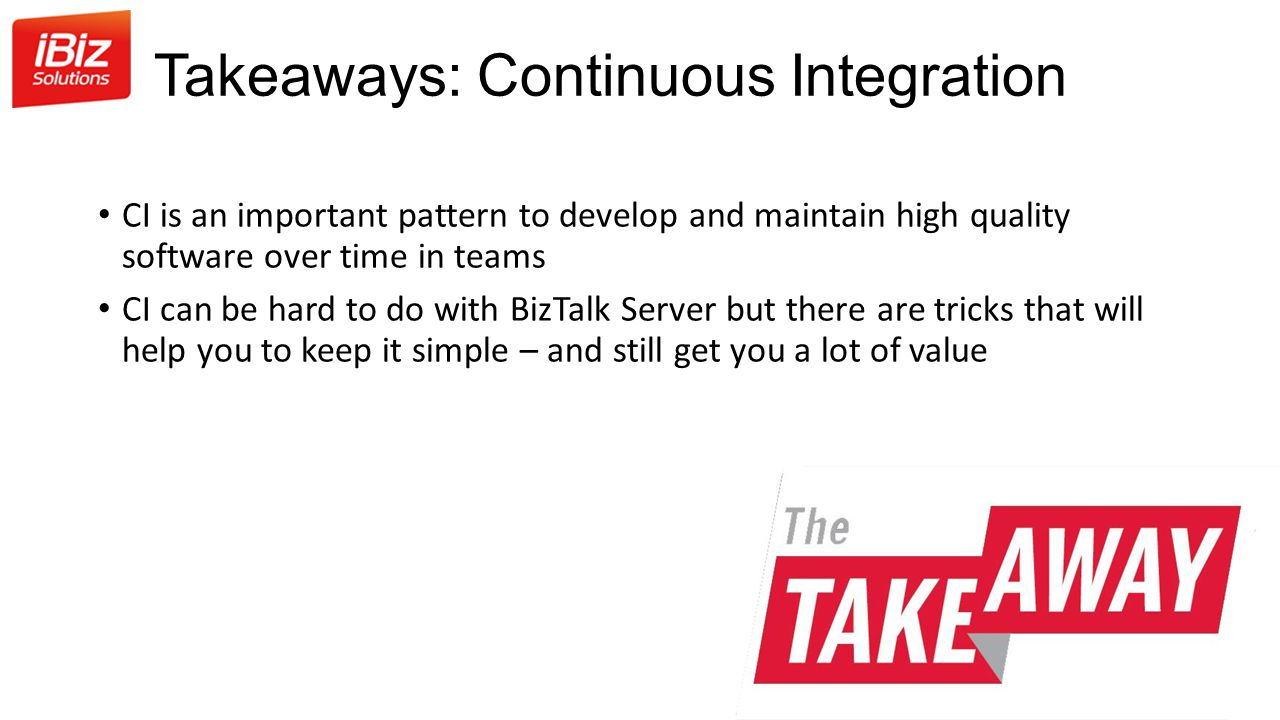 Takeaways: Continuous Integration
