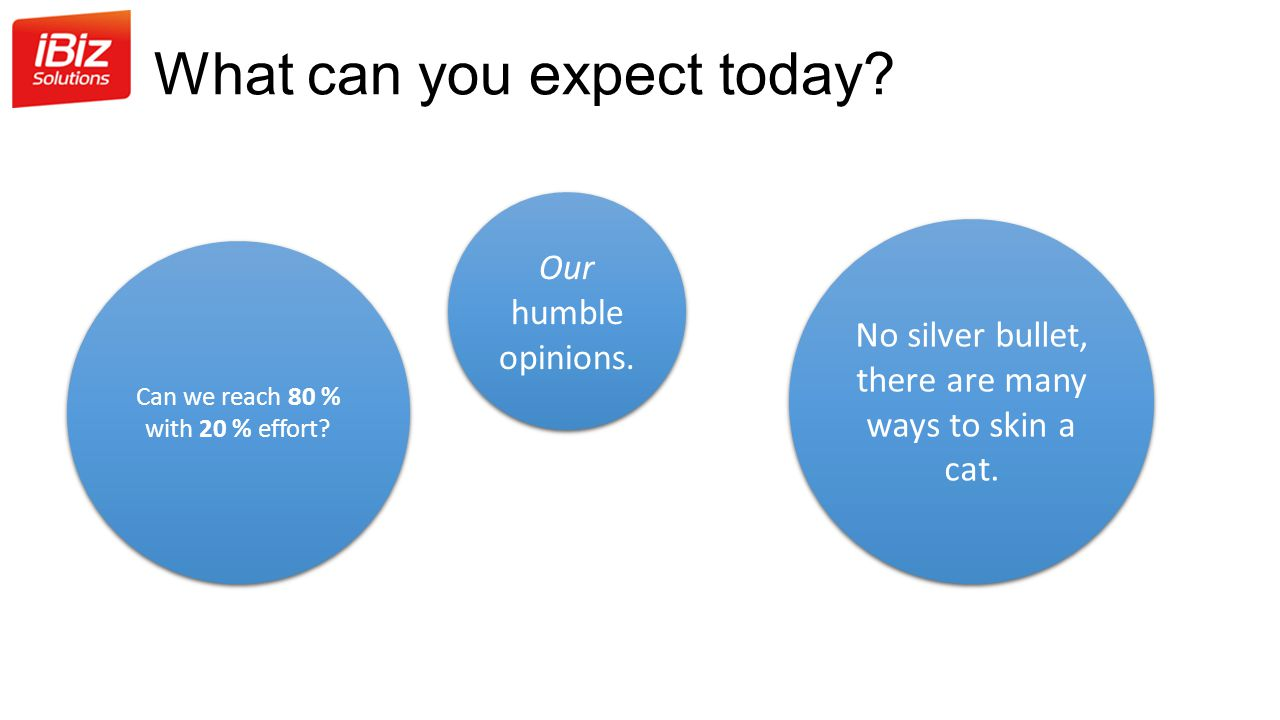 What can you expect today