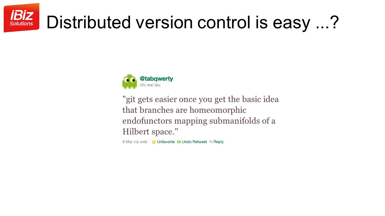 Distributed version control is easy ...