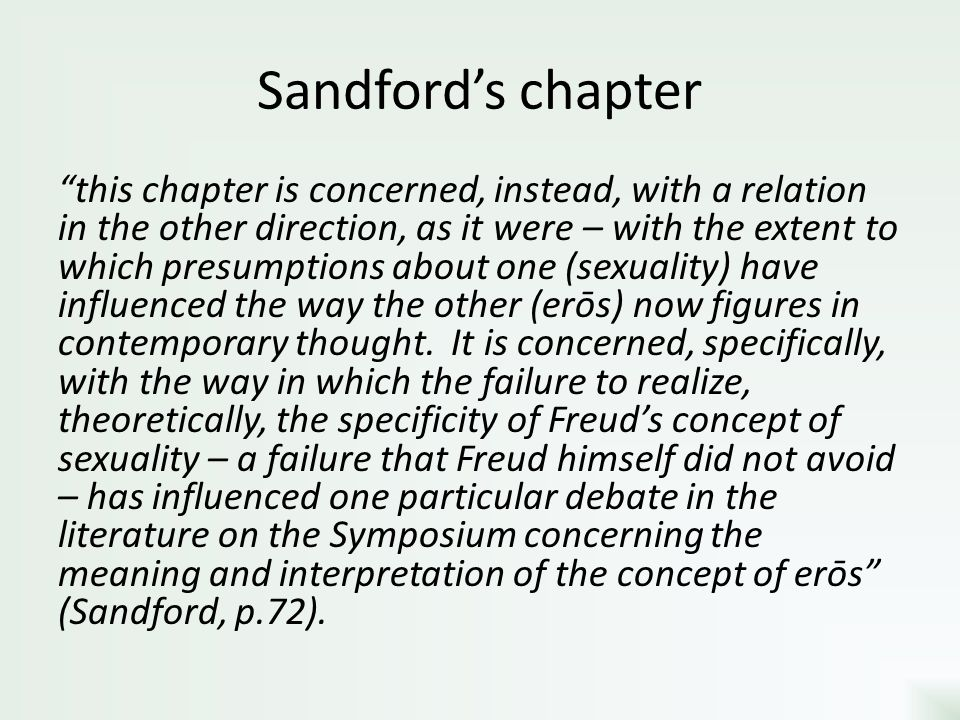 Sandford's chapter