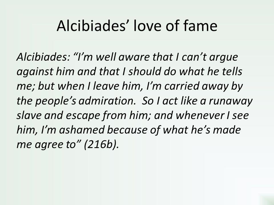 Alcibiades' love of fame