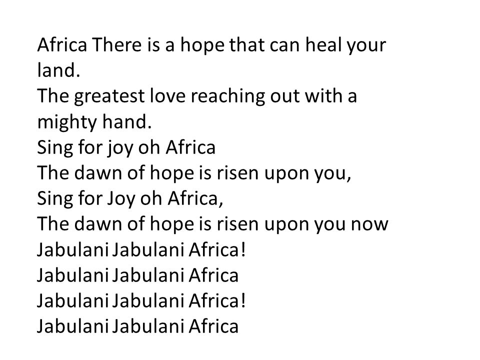 Africa There is a hope that can heal your
