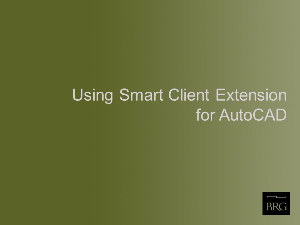 Using Smart Client Extension for AutoCAD
